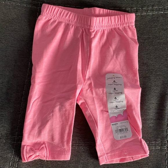Jumping Beans Bottoms Baby Girl Bright Pink Capri Leggings Nwt Poshmark